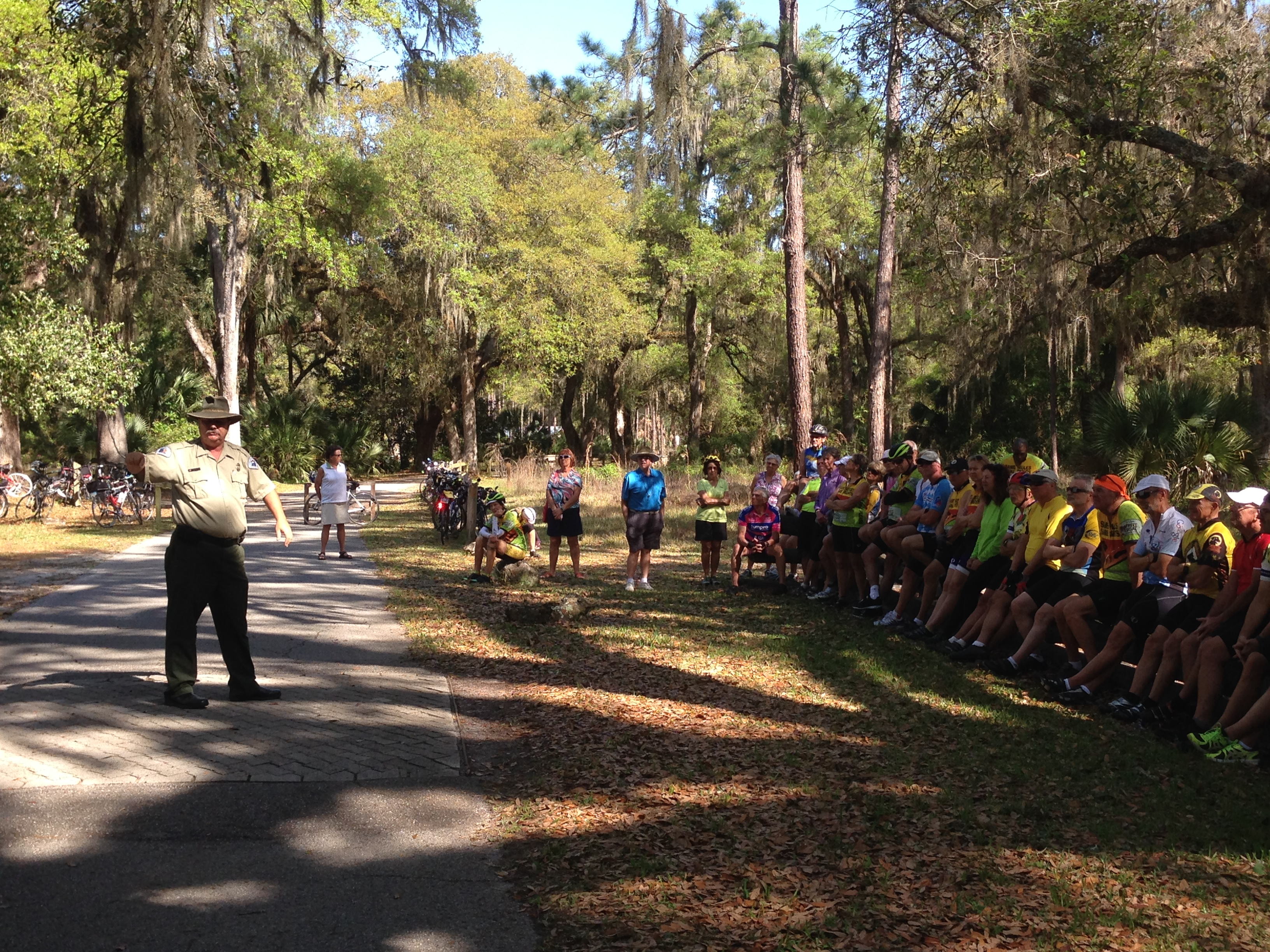 At the Dade Battlefield, listening to history lesson by Park Ranger.