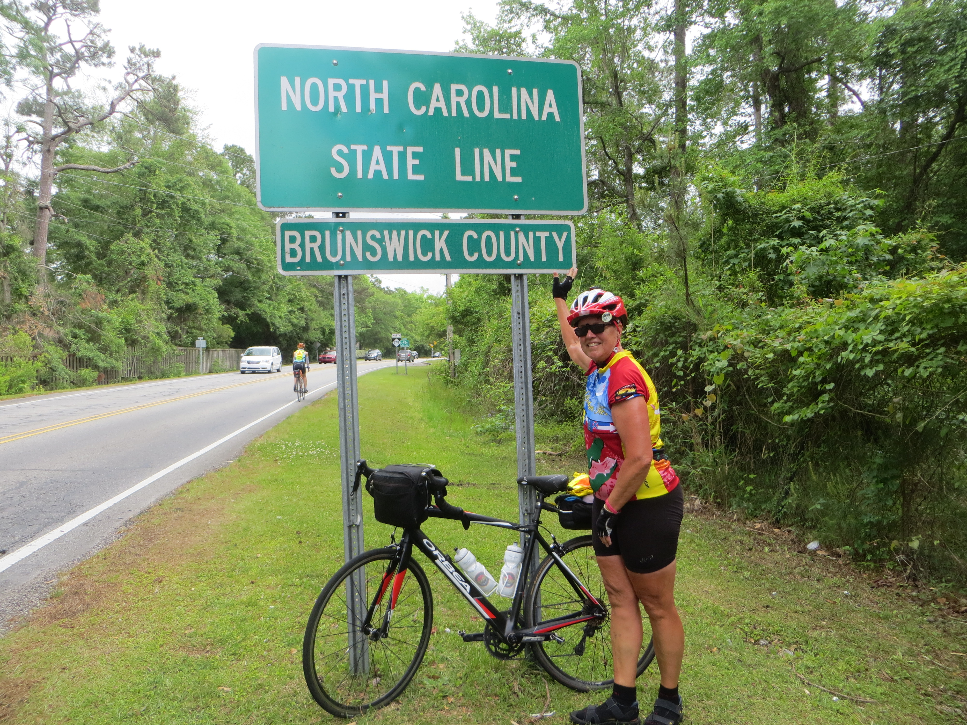 Nice to have a state line sign, unlike South Carolina.